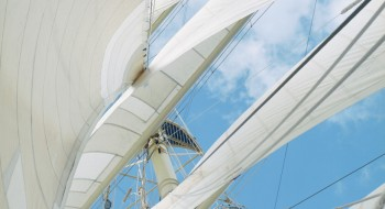 Raised Sails on Sailboat